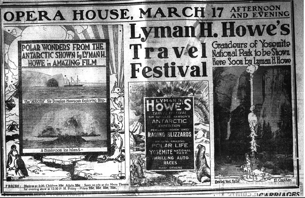 Advertisement from March 3, 1917, in the Bennington Evening Banner.