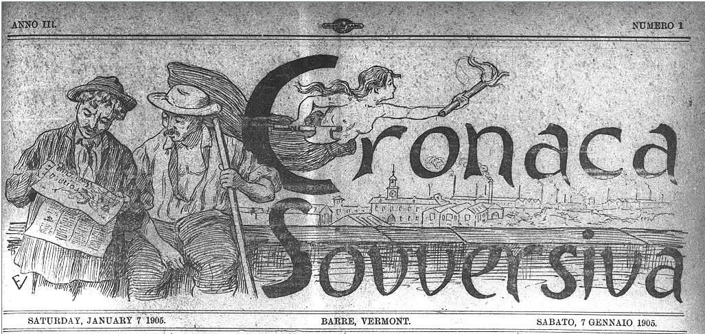 Cronaca Sovversiva masthead 1905