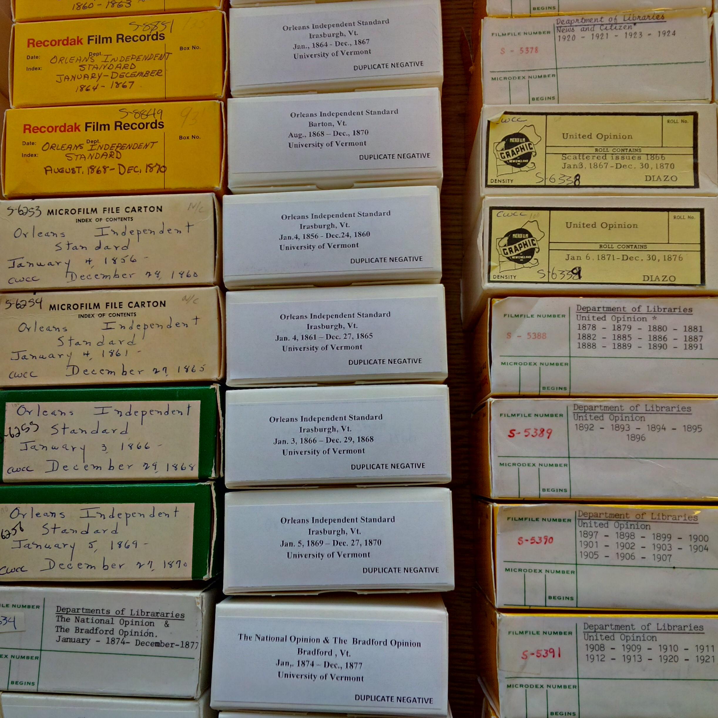 Microfilms close up