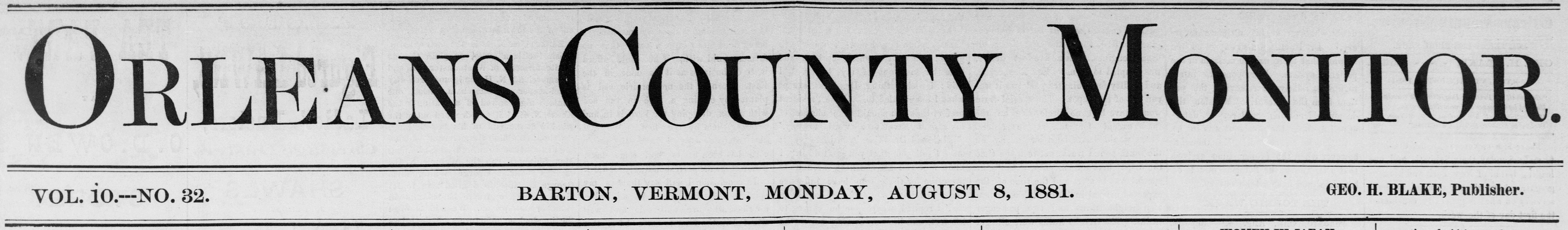 Orleans County Monitor
