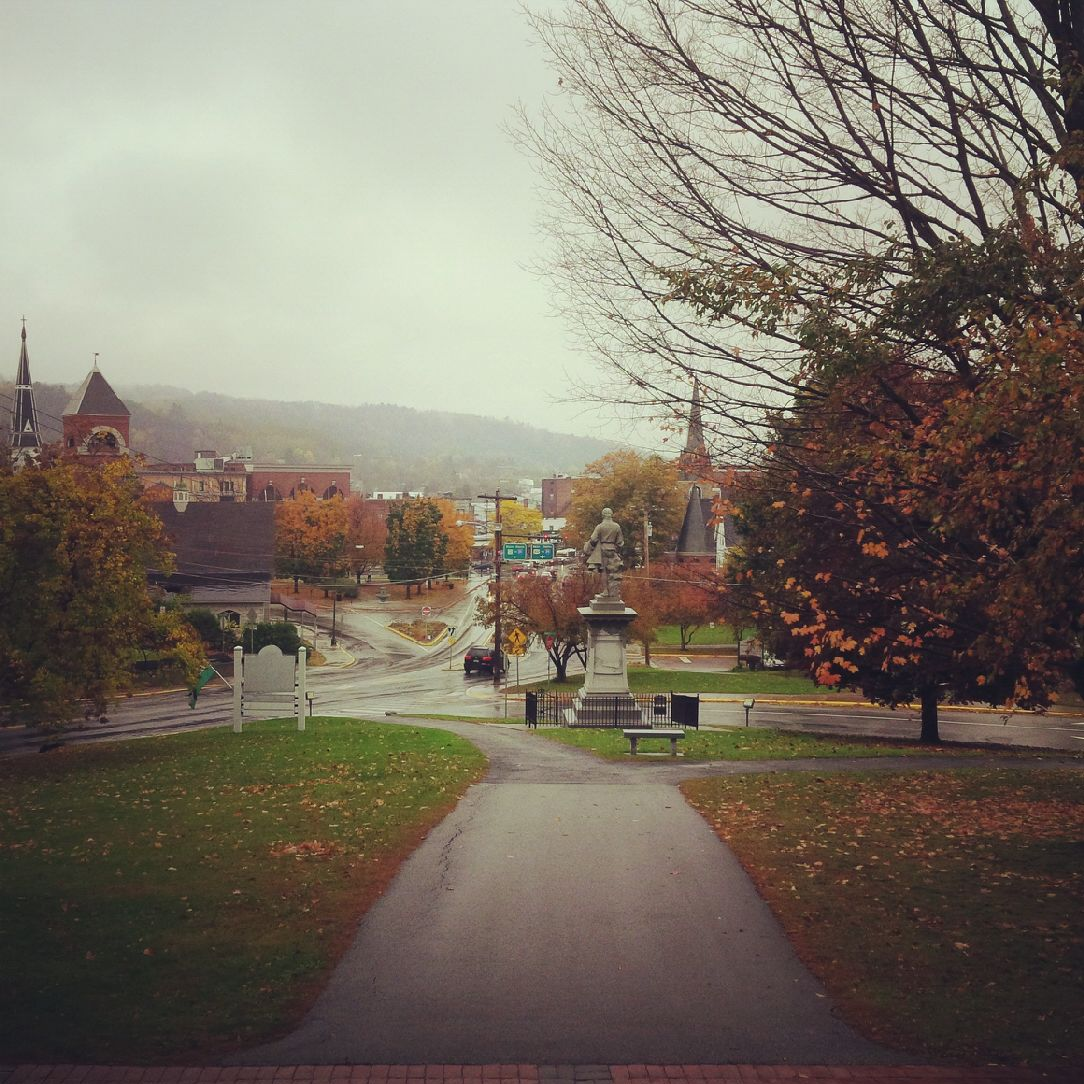 gloomy fall day in Barre VT