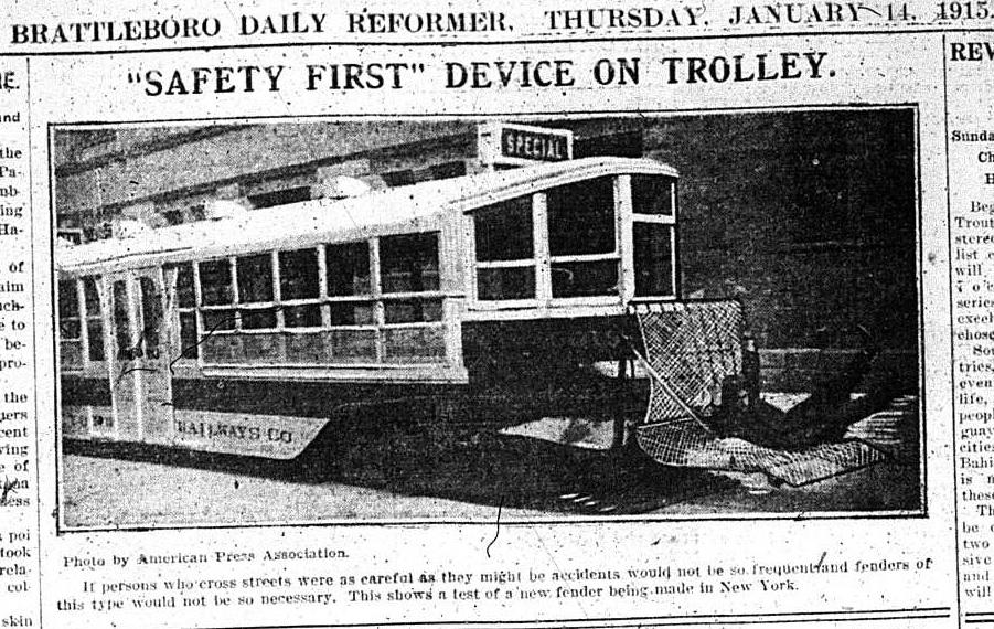 brattleborodailyreformersafetyfirst trolley