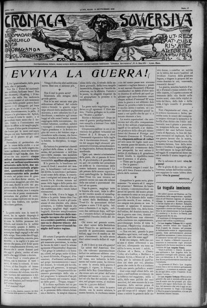 cronaca sovversiva first page for 10 million poster