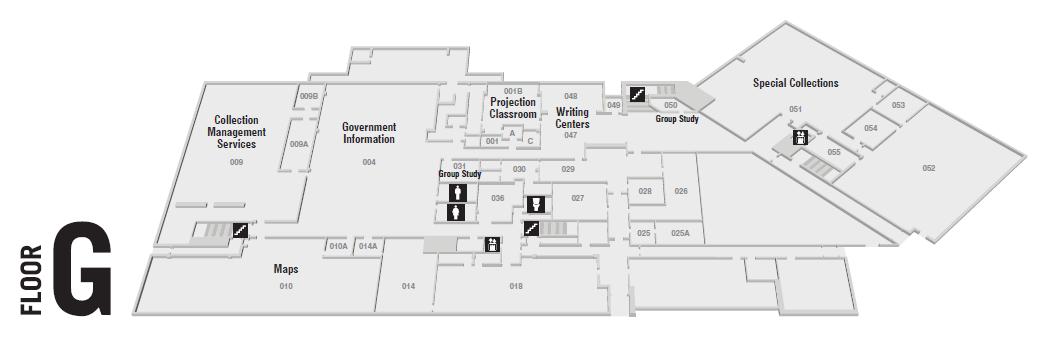 Floor Plan Of Ground Floor, Bailey/Howe Library