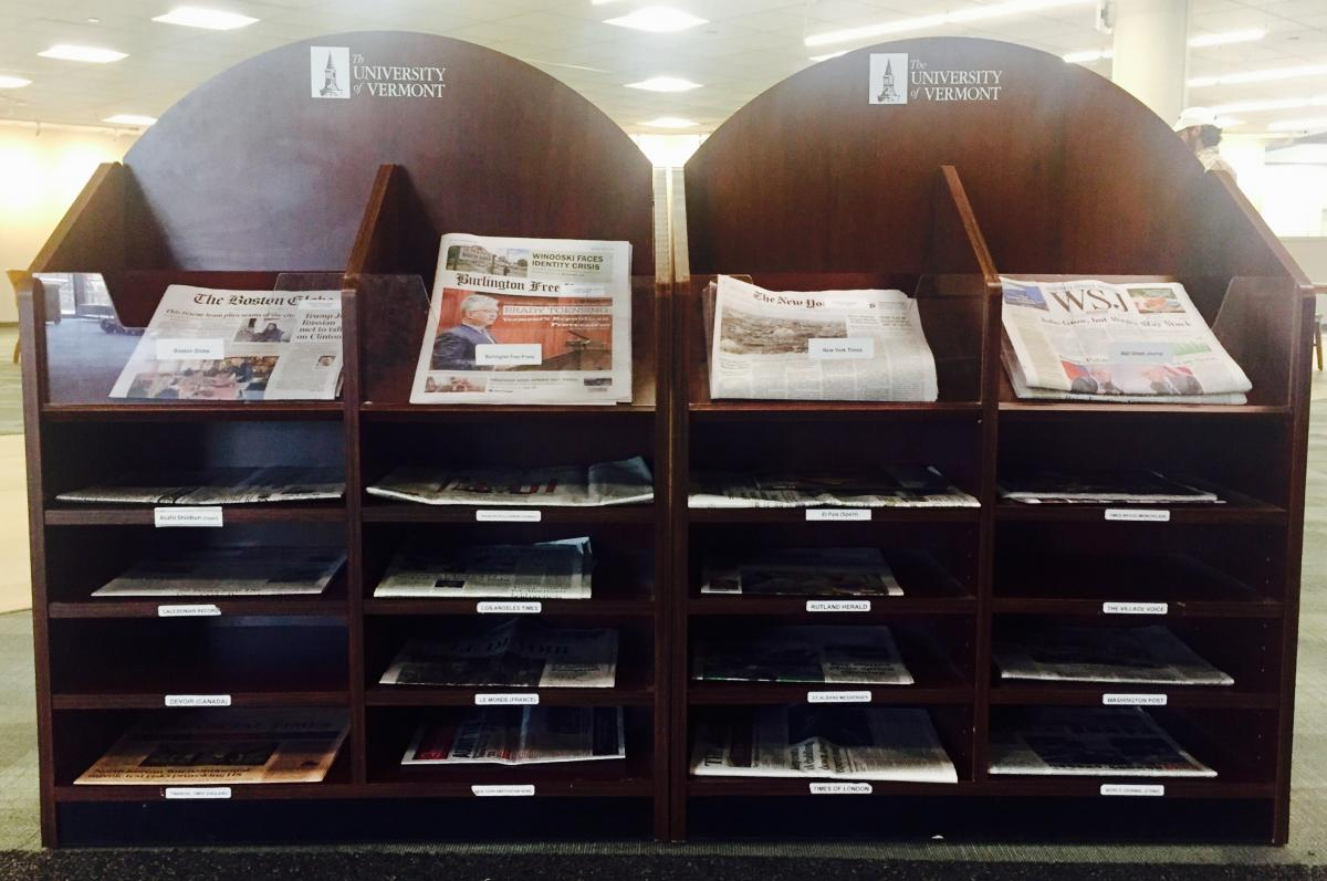 Recent Newspapers Shelf