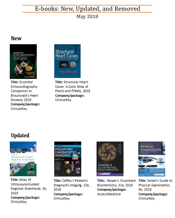 Explore Dana's New and Updated E-books for May | Dana Medical Library