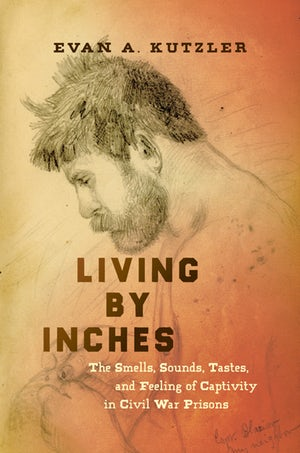 Orange-toned book cover for Living by Inches