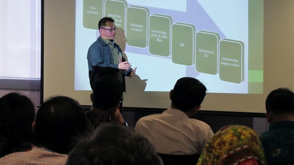 'Newspaper Digitization' talk at US Embassy Jakarta, February 2015